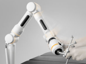 Surgical robotic assistant with reference array for surgical navigation