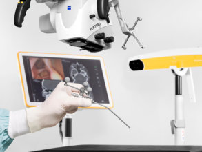 Optical tracking using a microscope during ENT surgery