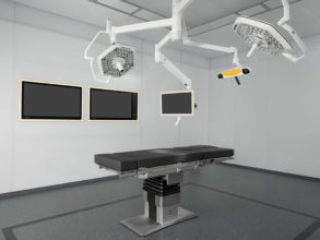Flexible ceiling-mounted setup of Buzz Digital O.R. - Operating Room Integration