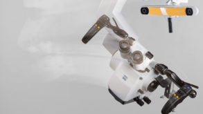 Navigation controlled robotic positioning allows the surgeon freedom during surgery