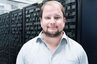 Benjamin Haaske, IT-Systemadministrator Klinikum der Ludwig-Maximilians-Universität