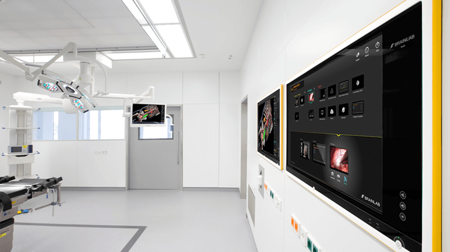 A digital operating room setup at Ludwig-Maximilians-University Hospital, Munich