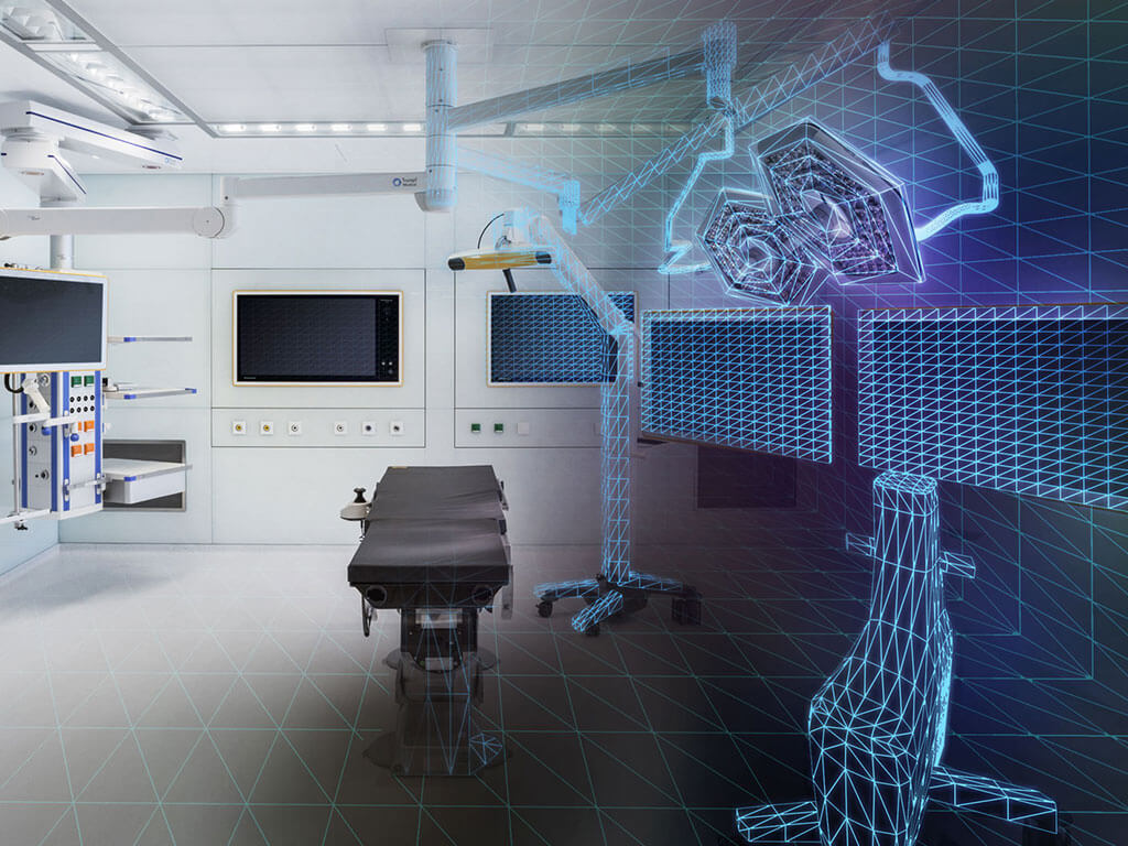 Digital Operating Room of the Future - Brainlab Mixed Reality