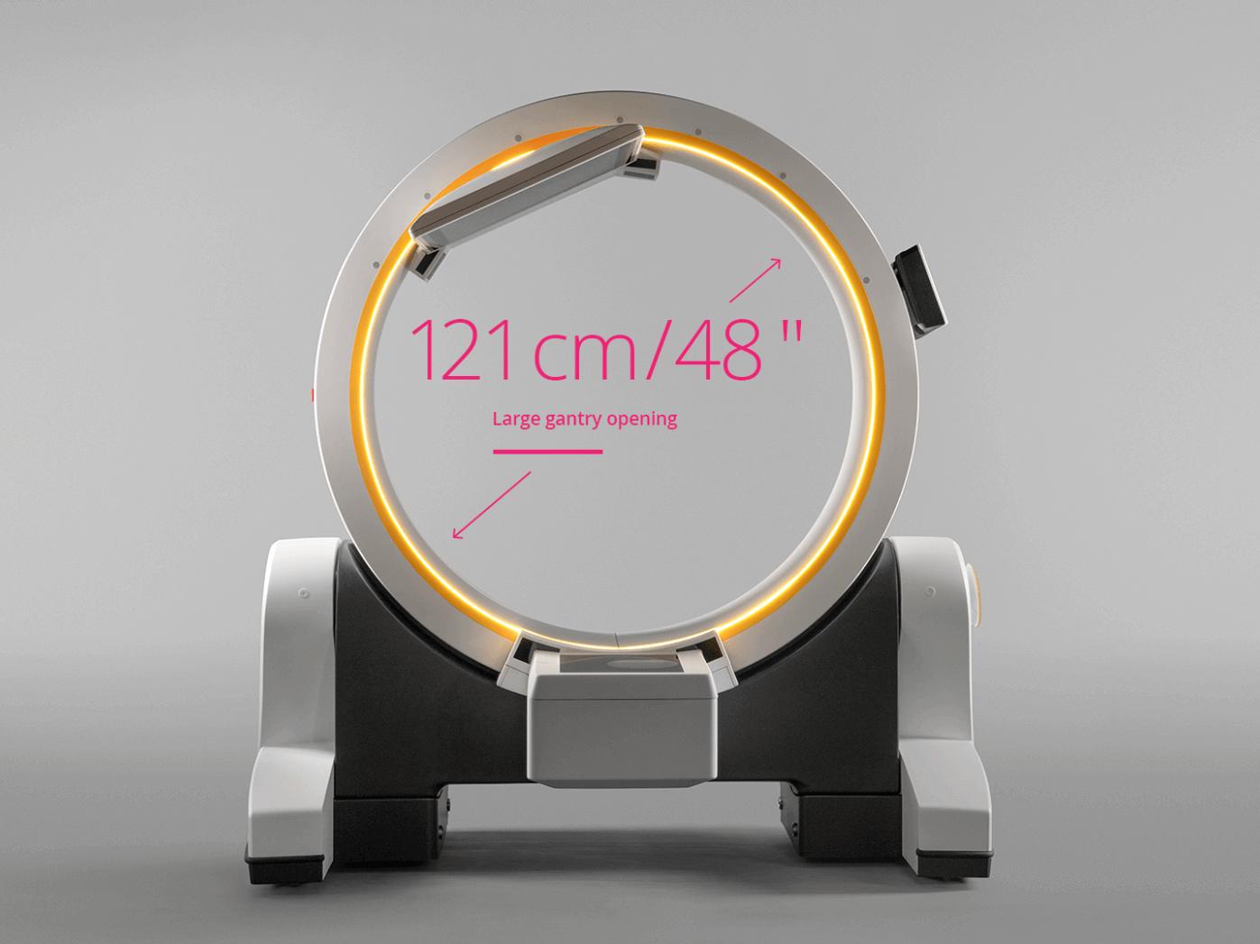 Brainlab Loop-X large gantry opening: 121cm/48in