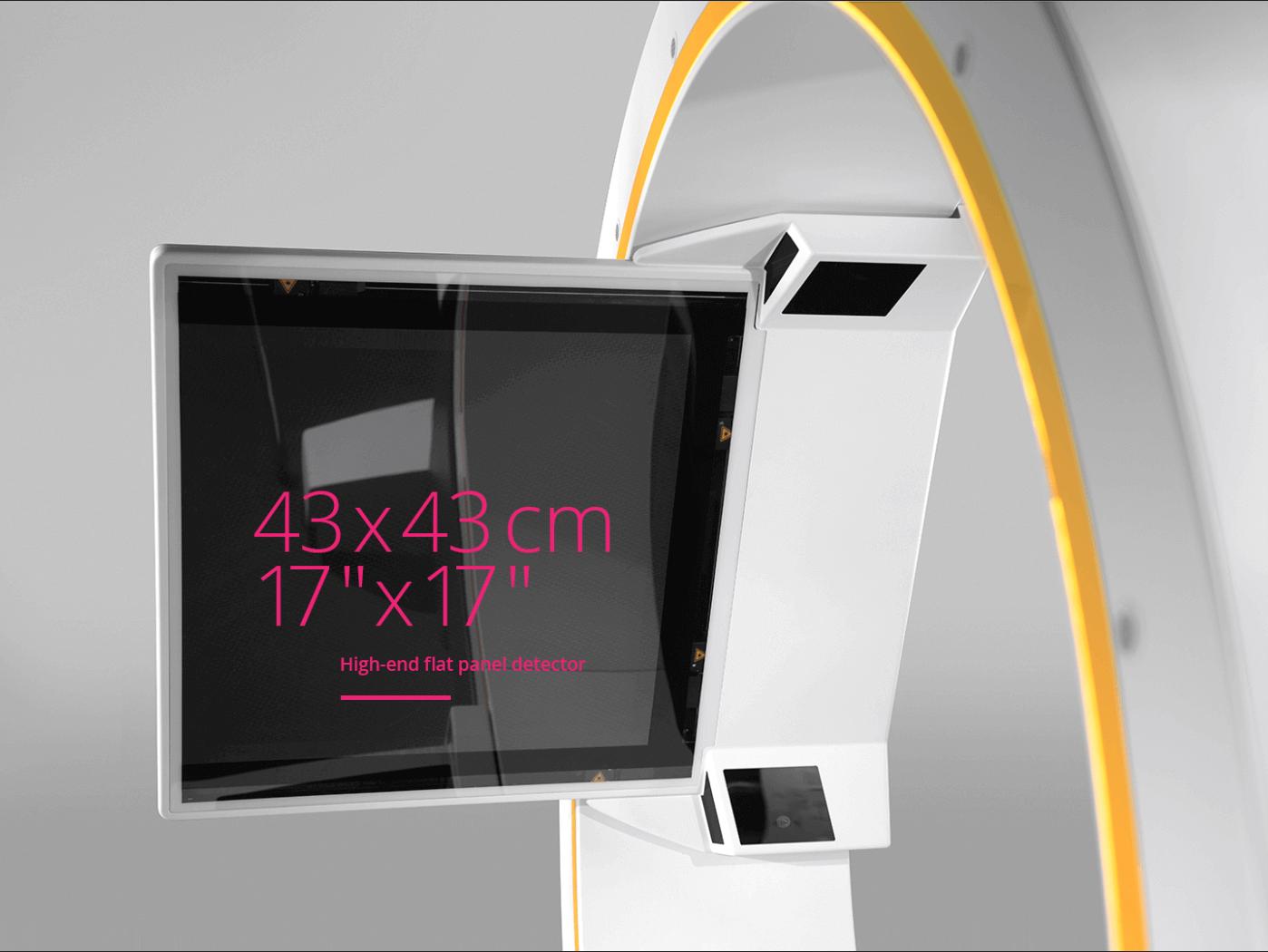 Brainlab Loop-X, großes Sichtfeld: 43 x 43 cm