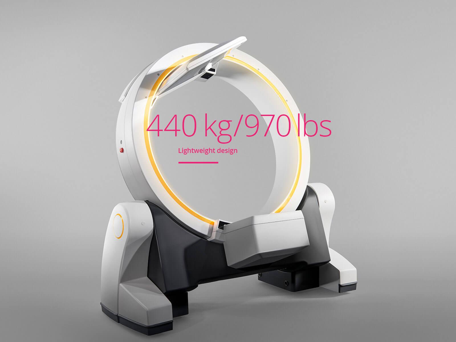 Brainlab Loop-X, Leichtbau: 440 kg