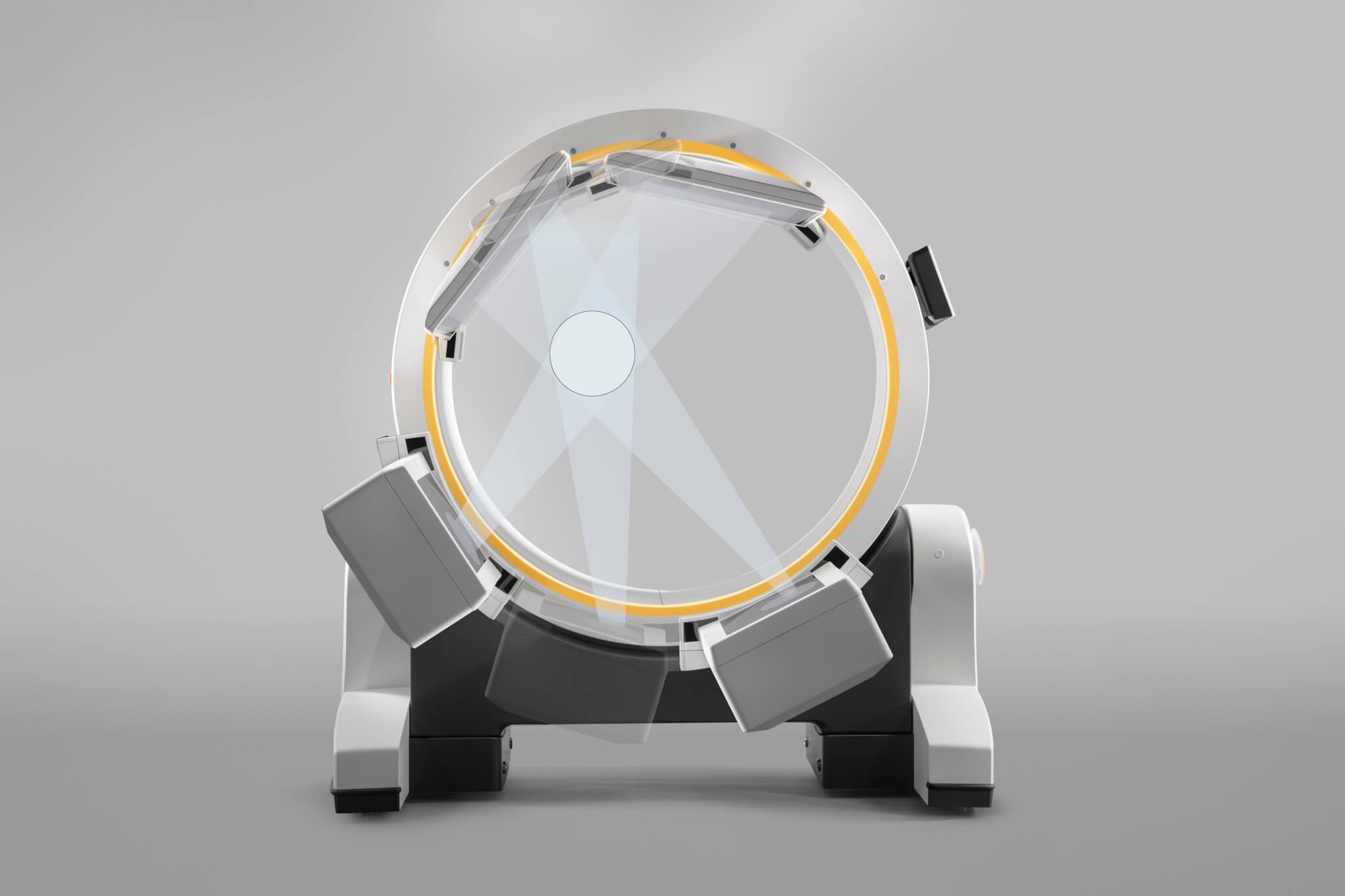 Aquisição não isocêntrica de imagens Cone Beam CT Loop-X da Brainlab