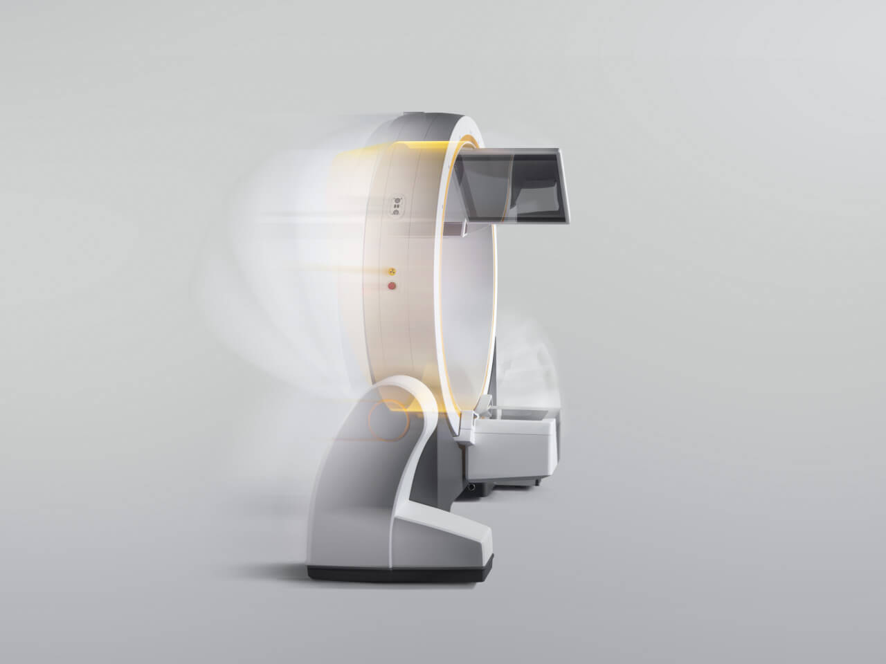 Brainlab Loop-X 3D-C-arm drives autonomously to stored positions